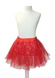 Ballet rokje rood met sterren