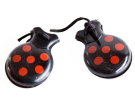 Spanish castanets black red dots