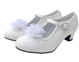 Spaanse Schoenen Clip bloem wit