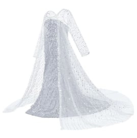 Frozen 2 Elsa jurk IJskoningin Deluxe + GRATIS kroon