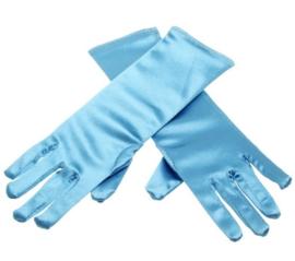 Elsa en Anna handschoenen effen blauw