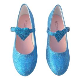 Elsa Frozen schoenen blauw glitter hart Deluxe