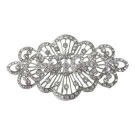 Spaanse manton broche zilver NIEUW