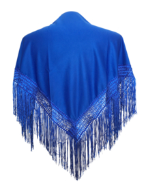 Spaanse manton/omslagdoek konings blauw SMALL