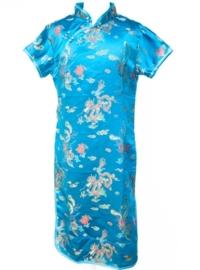 Chinese verkleed jurk blauw