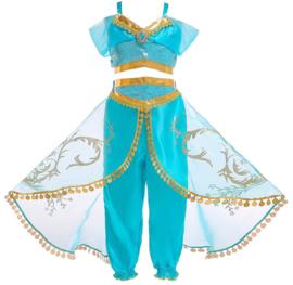 Jasmine Arabische Prinsessenjurk + GRATIS kroon