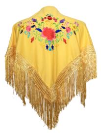 Spaanse manton geel diverse kleuren bloemen SMALL