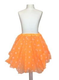 Ballet rokje oranje kleine witte stippen