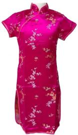 Chinese verkleed jurk roze