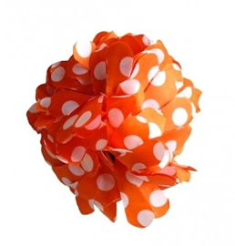 Flamenco hair flower orange white dots