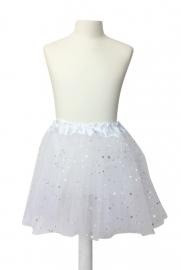 Balletrokje wit met sterren