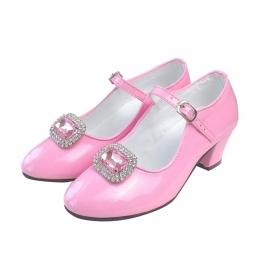 Spaanse schoenen Clip glittersteen roze