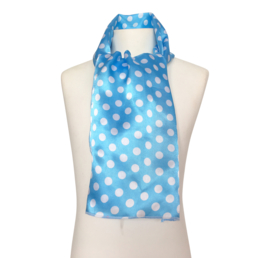 Spaans flamenco sjaaltje blauw met witte stippen
