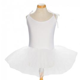 Balletpakje tutu met striklinten wit