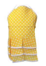 Flamenco schort geel/wit kinderen, klein model