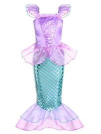 Zeemeermin prinsessenjurk  paars + GRATIS kroon