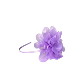 Prinsessen haarband paars met bloem