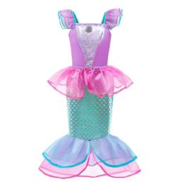 Zeemeermin prinsessenjurk Ariel roze + GRATIS haarband