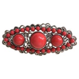 Spaanse manton broche rood