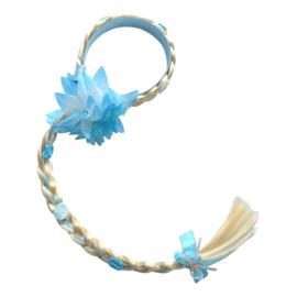 Elsa Frozen haarvlecht/haarband blauw