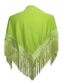 Spaanse manton/omslagdoek lime groen SMALL