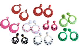 Spaanse flamenco oorbellen met stippen