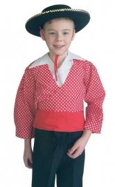 Spaans verkleedpak jongen Chico rood wit
