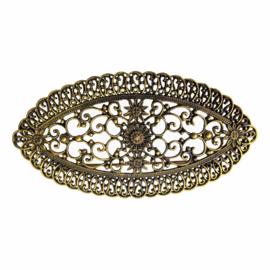 Spaanse manton broche goud