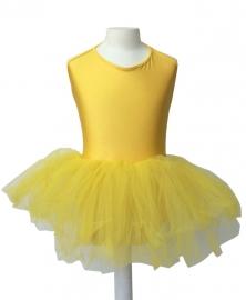 Balletpakje met tutu geel