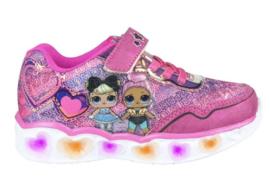 LOL Surprise sneakers roze met hartjes en lichtjes