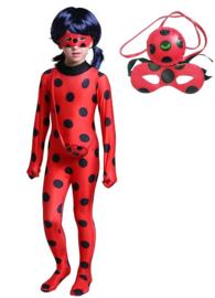 Ladybug kostuum Miraculous  + GRATIS tasje + masker