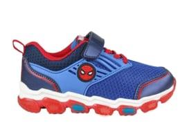 Marvel Spiderman sneakers blauw met lichtjes