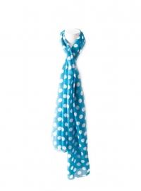 Spaanse flamenco sjaal blauw met witte stippen