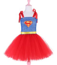 Super girl meisje tutu prinsessenjurk + GRATIS hanger