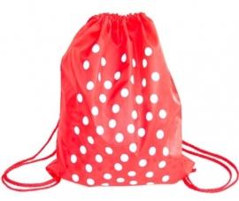 Spaanse jurk rugzak / cadeau tas, rood met witte stippen