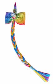 Eenhoorn Unicorn vlecht regenboog met clip