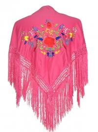 Spaanse manton roze diverse kleuren bloemen SMALL
