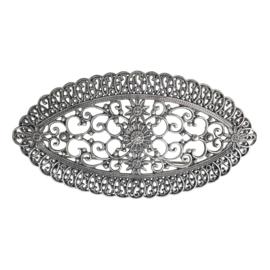 Spaanse manton broche zilver