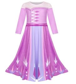 Frozen 2 Elsa jurk paars roze Basic + GRATIS kroon