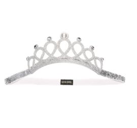 Prinsessen kroon zilver met parel