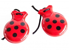 Spanish castanets red black dots
