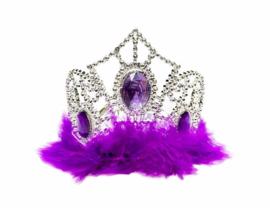 Prinsessen kroon paars veren
