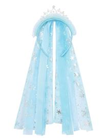 Elsa haarband met kroontje + sluier