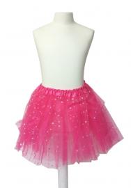 Balletrokje fel roze met sterren