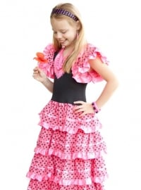 Flamenco Dress pink black