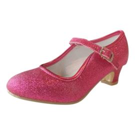 Spaanse schoenen fuchsia roze glitter NIEUW