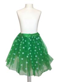 Ballet rokje groen kleine witte stippen