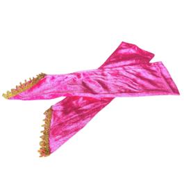 Prinsessen handschoenen fel roze fluweel vingerloos