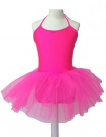 Balletpakje met tutu zuurstok roze