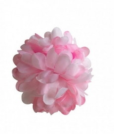 Flamenco hair flower light pink white